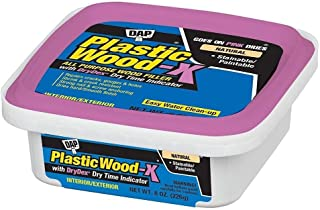 Dap 00541 8 oz. Plastic Wood-X Stainable Wood Filler with DryDex Dry Time Indicator, Natural