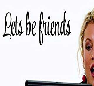 """Design with Vinyl US V SOS 971 3 Top Selling Decals Lets Be Friends Wall Art Size: 10 Inches X 36 Inches Color: Black, 10""""..."""