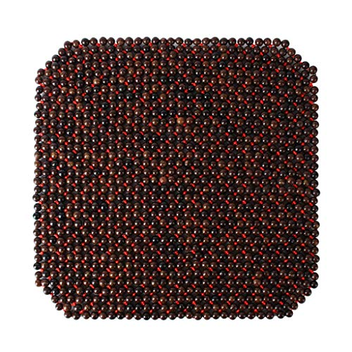 HXGL-Drum Seat Cushion,Wooden Beaded Car Seat Cover Massaging Cool Cushion for Car Truck Breathable Cool Seat Mat for Car Office Chair