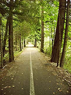 Home Comforts Nature Green Path Outdoor Road Bike Path Forest Vivid Imagery Laminated Poster Print 24 x 36