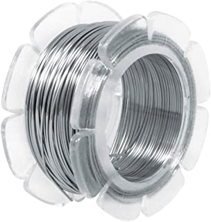 "Rayher fil en acier inoxydable à modeler àž 0,5 mm €"" fil inox extrêmement malléable €"" fil acier inoxydable pour créer v..."