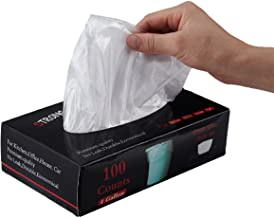 Feiupe 4 Gallon Extra Strong Clear Small Trash Bag Garbage Bag Trash Can Liner,100 Counts (4 Gallon)