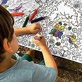 JEKA Papier-Tischdecke zum Ausmalen, Motiv Zoo, Kindertischdecke, Kindergeburtstag, Kinderbeschäftigung, Mal Mich Bunt - 3