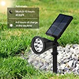 Sulida Solar Plant Grow Light Waterproof Auto On/Off 16 LED Plants Grow Lamp Bulbs for Outdoor/Indoor Plants Growing