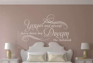 Wall Sticker Quote Wall Decal Funny Wallpaper Removable Vinyl You are My Always Have Been My Dream for Living Room Bedroom Nursery Kids Room