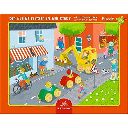 Spiegelburg 13550 Rahmenpuzzle Der kleine Flitzer in der Stadt (15 Teile)