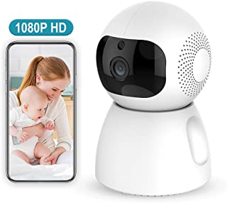 1080p HD Indoor Wireless Smart Home Camera with Night Vision, 2-Way Audio, Baby Monitor Home WiFi Security Camera Sound/Motion Detection Available Monitor Baby/Elder/Pet Compatible with iOS/Android