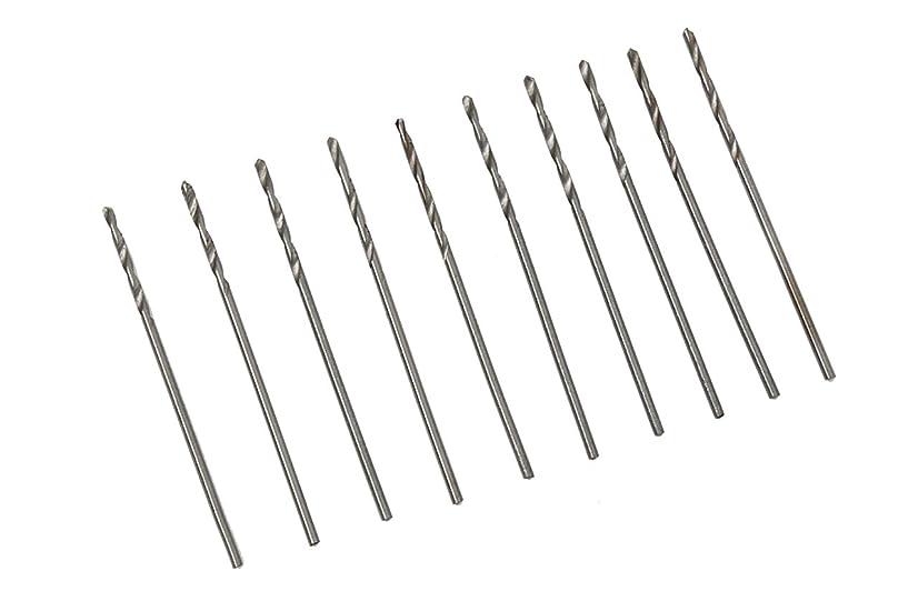 平和な疲れた農場UID ドリルビット10本セット1.0mm-1.5mm ミニルーター/ルーター/リューター/ホビールーター/ハンディドリル PROXXON(プロクソン) DREMEL(ドレメル) RYOBI(リョービ) TAMIYA(タミヤ) 等,各メーカー対応 (1.1mm)