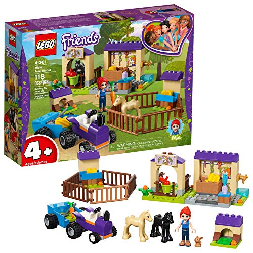 LEGO Friends 4+ Mia's Foal Stable 41361 Building Kit, 2019 (118 Pieces)