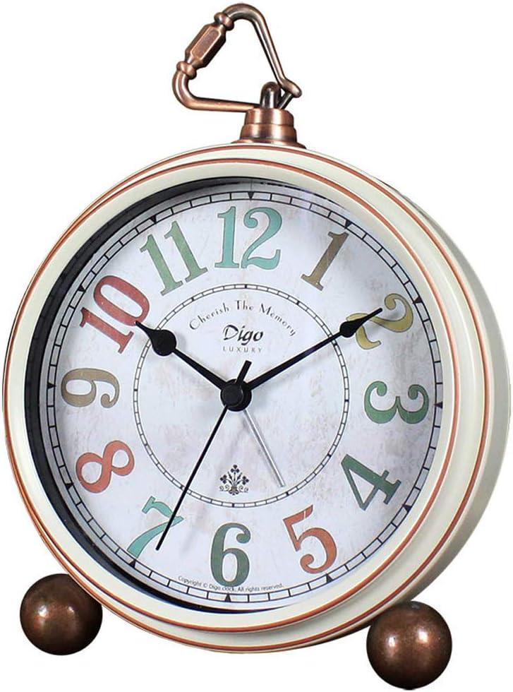 Vintage Retro Decorative 5 ☆ very popular Desk Alarm to Factory outlet Easy Clocks Non-Ticking