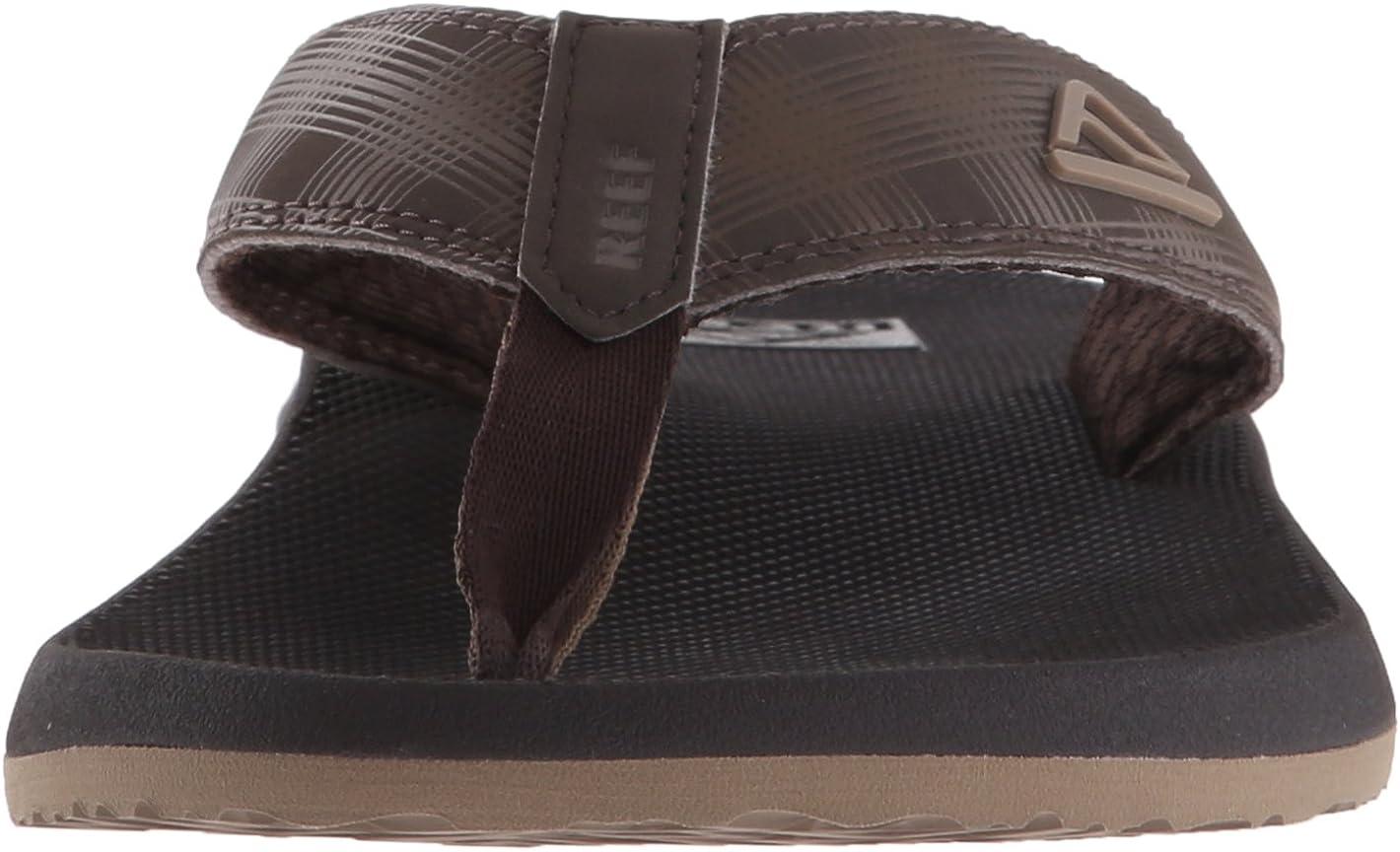 Reef Mens Sandals Phantom | Athletic Flip Flops For Men With Contoured Footbed | Waterproof