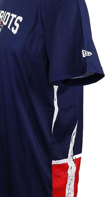New Era England Patriots Camiseta con Logo Grande en Azul Marino para Hombre y Mujer