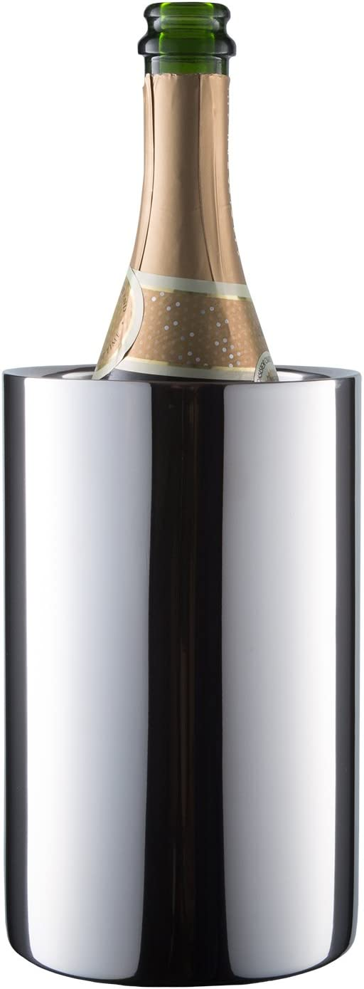 Enoluxe Wine Chiller Bucket - Insulated Wine Cooler/Champagne Bucket - Fits All 750 ml Bottles