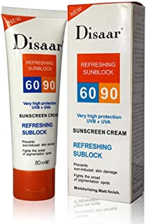 Say No to Sunburn,lotus.flower Beauty Skin Care 80g Face Sunscreen Spf Max SPF90+ Oil Free Radical Scavenger (80ML)