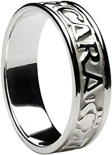 Mens Irish Band Mo Anam Cara Sterling Silver Made in Ireland