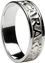 Mens Irish Band Mo Anam Cara Sterling Silver Made in Ireland
