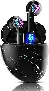 Auriculares Inalámbricos, Auriculares TWS Bluetooth 5.1 con microfono,HiFi Estéreo,Control Táctil,Cancelación de Ruido,IPX...
