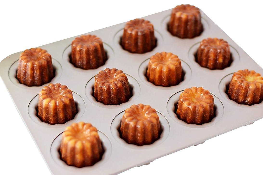 役職メトロポリタン国旗CHEFMADE カヌレ型 12個付 粘りにくいケーキ型