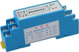 Mxfans DC24V DIN Rail Type Temperature Sensor Converter 0-100 Degree Celsius 4~20mA Output Blue