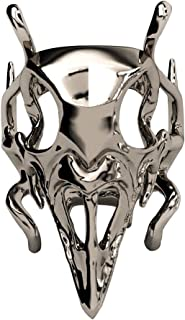 EVBEA Crow Skull Ring Gothic Cool Statement Steampunk Monster Rings for Women