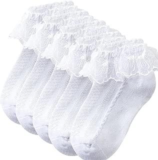 BabySocks Girl's Socks Lace Top Anklet Socks Packs of 5