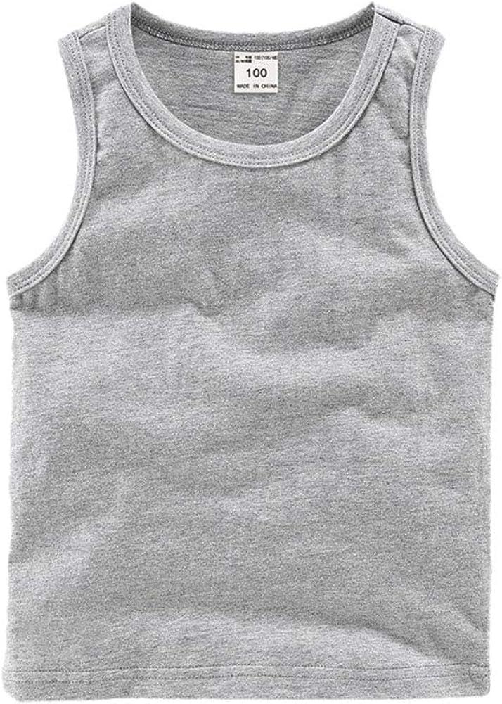 PTPuke Boys Girls Solid Unisex Toddler Baby Soft Comfort Breathable Cotton Sleeveless Tank Top Undershirts