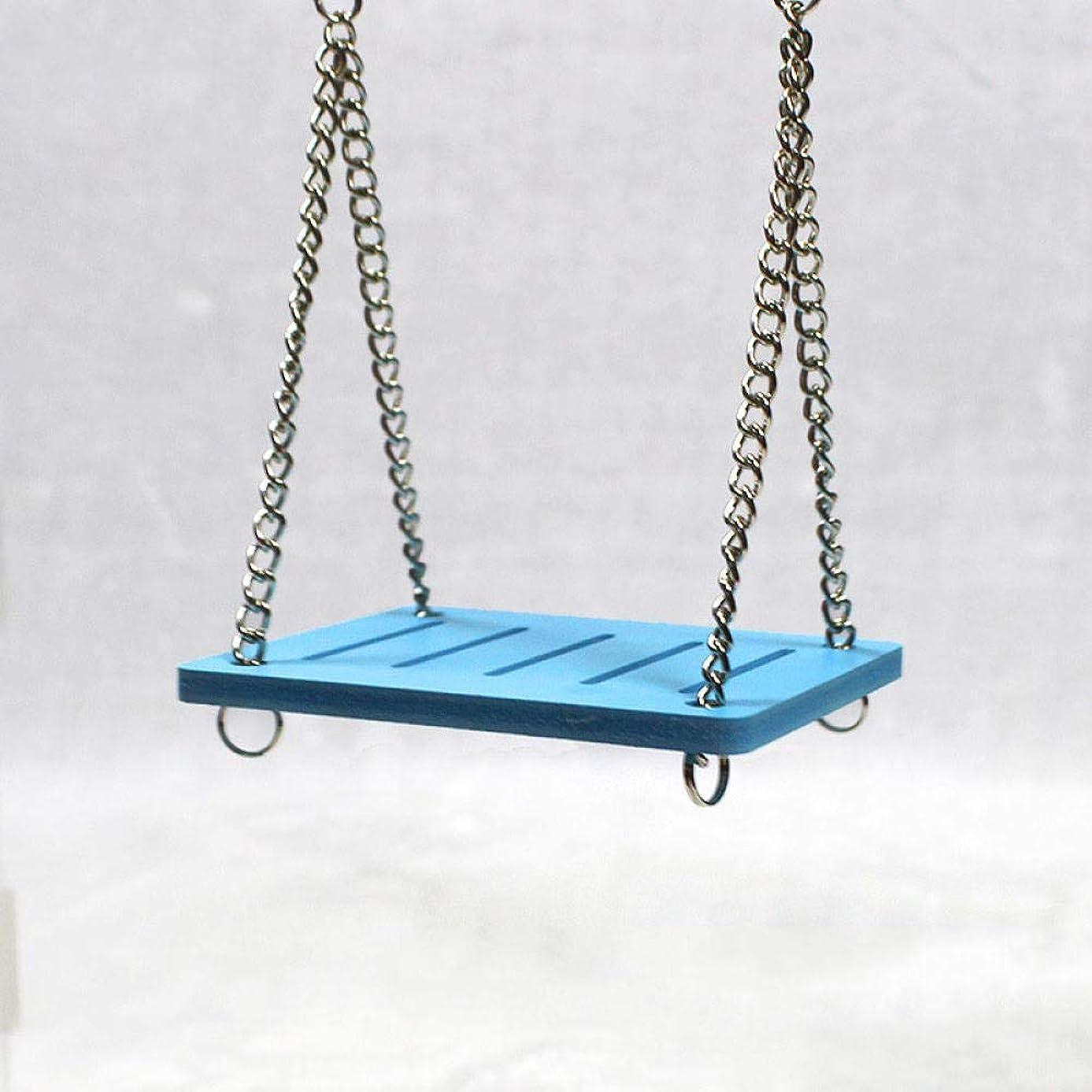 ドアミラー経営者タイマーかわいいオウムハムスター小さなスイングシェイクサスペンショングッズハンギングベッドペット製品エンターテイメント運動おもちゃブルー