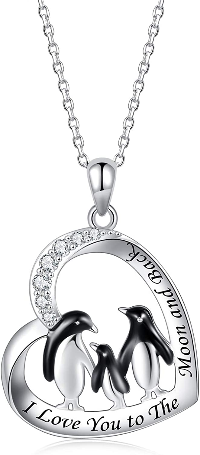 IOHUPCI Penguin Necklace Gifts for Girl Sterling Women - Direct stock discount Spring new work Silver