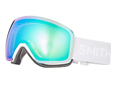 Smith Optics Skyline Goggle (White Vapor/Chromapop Everyday Green Mirror/Extra Lens Not Inclu) Snow Goggles