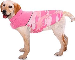 Queenmore Warm Dog Jacket, Reversible Dog Winter Coat, Waterproof Dog Clothes, Reflective...