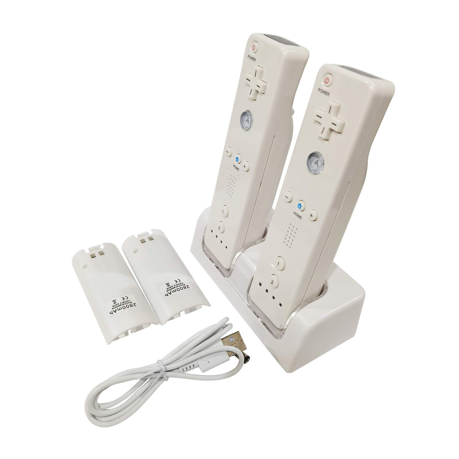 Prodico Wii Charging Station Charge Dock with Two Rechargeable Batteries for Wii Controller: Video Games