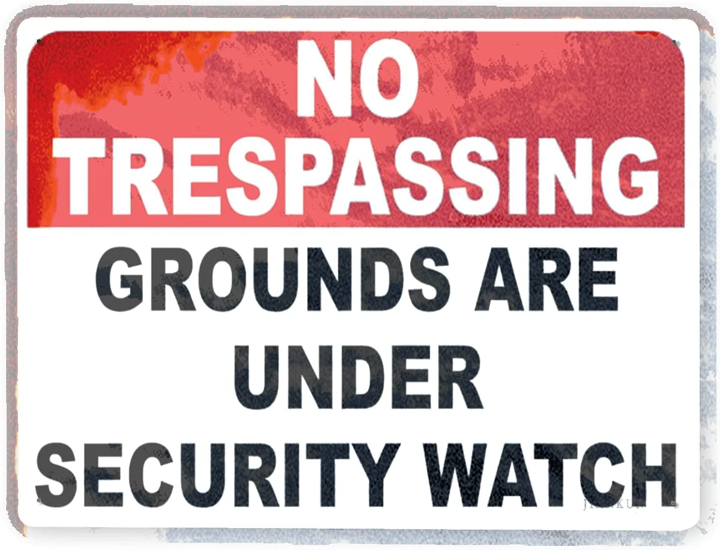 J.DXHYA Man Cave Decor 2 Pieces Grou High quality Max 90% OFF Warning Trespassing no Sign