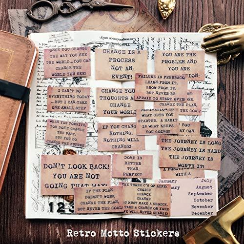 BLOUR 17 Stück/Packung Vintage Memo Letters Pergament Papier Aufkleber DIY Craft Scrapbooking Album Junk Journal Planner Dekorative Aufkleber