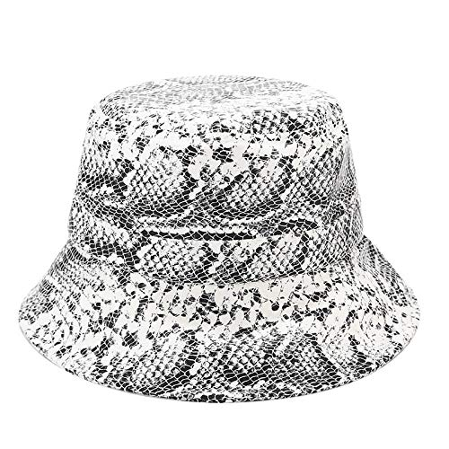 Bucket Hat Leather Pattern Basin Cap Men S Street Foldable Fisherman Hat Ladies Outdoor Travel Visor-Style_3