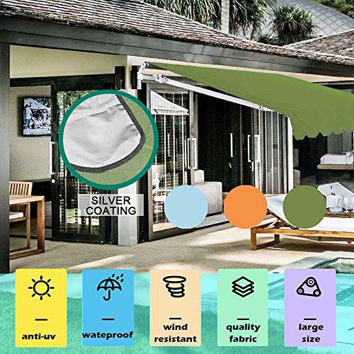 ERTYUI - Toldo impermeable para jardín, patio, patio, exterior, 2 x 1,5 m, 3 x 1,5 m, Verde, 3*1.5m
