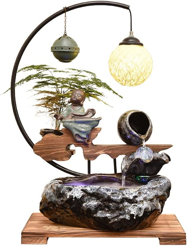 Boston Mall Oklahoma City Mall ROEWP Indoor Desktop Fountain Gifts Ceramic Waterfall