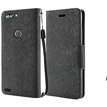 ZTE Sequoia Z982 / ZTE Blade Z MAX/ZTE Zmax Pro 2 Case Luckiefind Design Premium PU Leather Flip Wallet Credit Card Cover Case Stylus Pen Accessories  Black