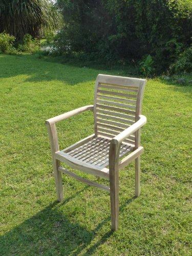 C&L Jardin C & L Garten mjefedims Dima Stapelsessel Teak beige 57x 58x 90cm