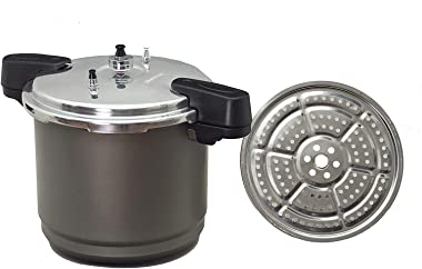 Granite Ware F0732-2 Pressure Canner and Cooker/Steamer, 12-Quart, Black by Granite Ware