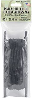 Pepperell 1.9mm Parachute Cord, 100-Feet, Black