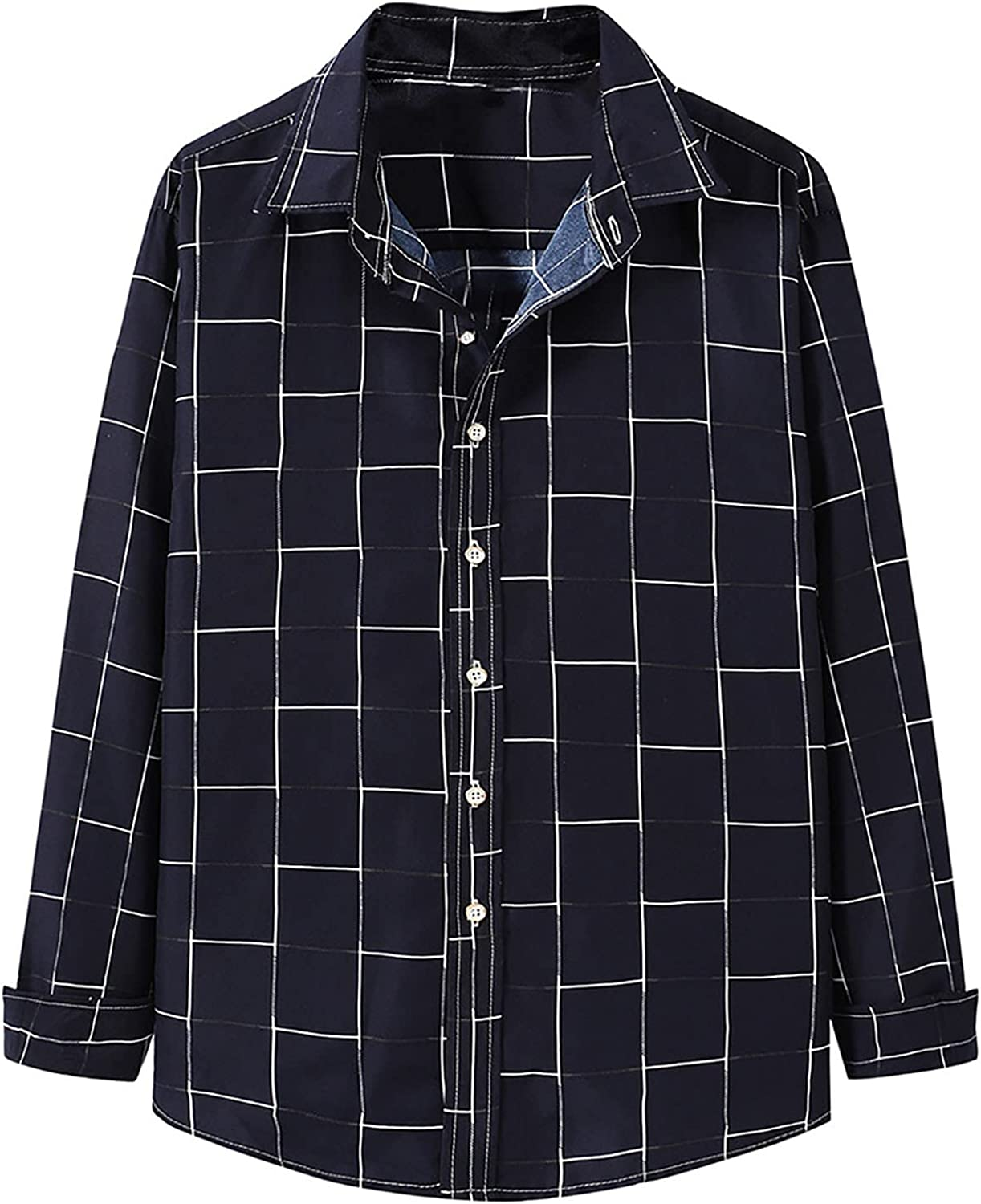 Dry Fit Button Down Shirts for Men - Performance Slim Fit Casual Striped Shirts