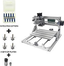 Festnight CNC3018 Kit per router CNC fai-da-te Mini macchina per incisione 2-in-1 GRBL Controllo 3 assi per PCB Legno in PVC acrilico Macchina per incisione per fresatura del legno con ER11 Collet e
