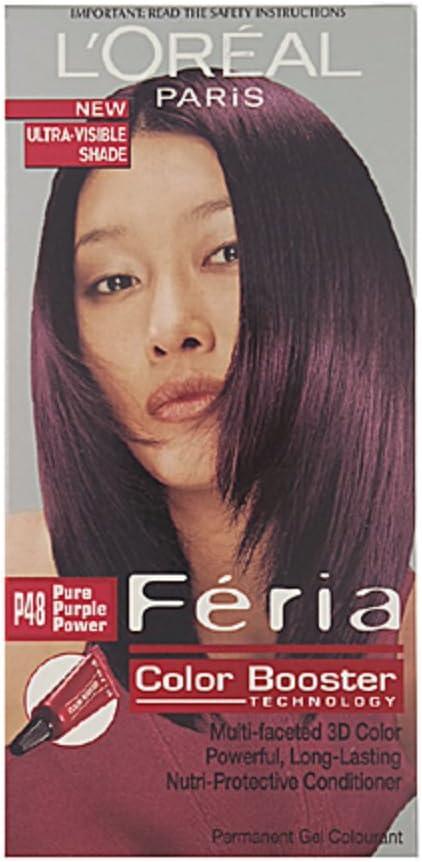 L Oréal Paris Feria Color Booster Pure Plum Power: Amazon.es ...