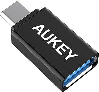 AUKEY USB C to USB A 変換アダプタ Type cアダプタ 56Kレジス OTG機能対応 iPad Pro、MacBook Pro、Chromebook Pixel、Nexus 6P/5X、OnePlus 2に対応 高速転送可...