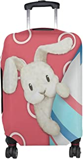 ALAZA Rolling Luggage Cover Easter Egg Bunny Pink Travel Case Suitcase Bag Protector 18-32 Inch
