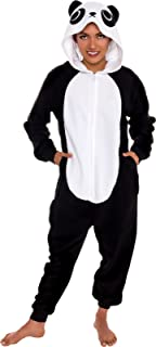 Slim Fit Animal Pajamas - Adult One Piece Cosplay Panda Costume by Silver Lilly
