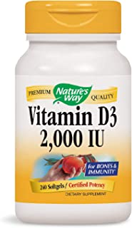 Nature's Way Vitamin D3 2000 IU; 2000 IU per serving; 240 Softgels