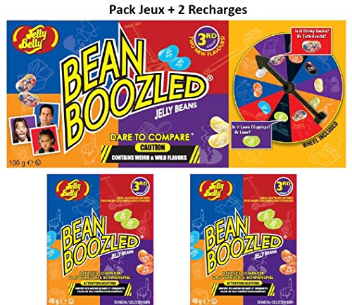 Jelly Belly Pack Bean Boozled Jeux 100g + 2 Recharges 45g