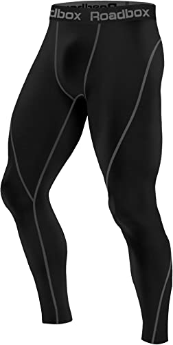 Roadbox 1, 2 or 3 Pack Men's Compression Pants Thermal Workout Cool Dry Sports Leggings Tights Baselayer