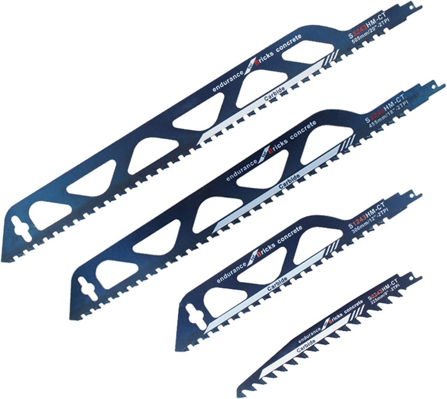 Hoja de sierra de aleación dura para cortar madera, cemento y ladrillo, hoja de sierra alternativa para sierra de sable, hojas de sierra alternativa para corte de metal